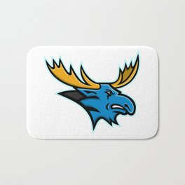 Bull Moose Head Mascot Bath Mat