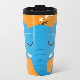 Sleepy Elephant Metal Travel Mug