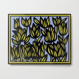 Art, Print, Art Print, Drawing Flowers, Home Decor, Print Botanical, Drawing Flowers, Line Drawing F Metal Print