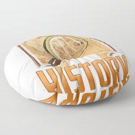 Warning: May Start Talking About History Historian Floor Pillow