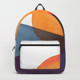 Abstract Watercolor sunset Backpack