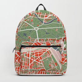 Berlin city map classic Backpack