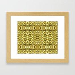 Golden Plated Ornament Framed Art Print