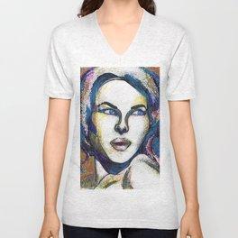 Pop Art Woman Unisex V-Neck