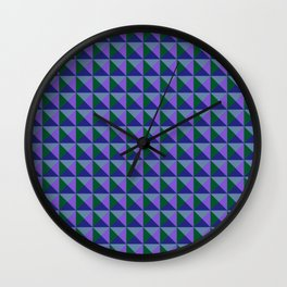 Abstract Triangle Pattern - Colorway #2 Wall Clock