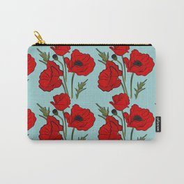 Red poppies pattern Carry-All Pouch