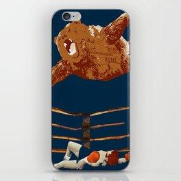 flaying bear iPhone Skin