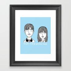 T & S Framed Art Print