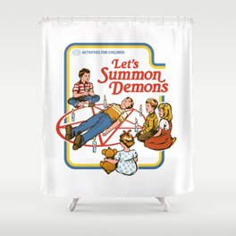 LET'S SUMMON DEMONS Shower Curtain