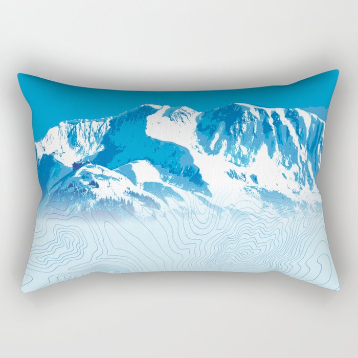 Mt. Alyeska Alaska Rectangular Pillow