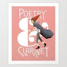 Poerty & Clarinet Art Print