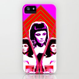 Elizabeth Taylor Goddess - Digital Collage iPhone Case