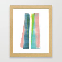 Colorful Geometric Abstract Minimalist Monotype 2 Framed Art Print