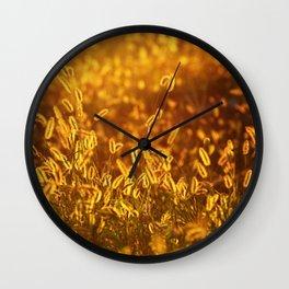 Foxtail Wall Clock