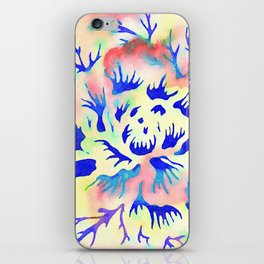 Yellow and Blue Pattern iPhone Skin