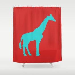 Simplistic Giraffe Shower Curtain