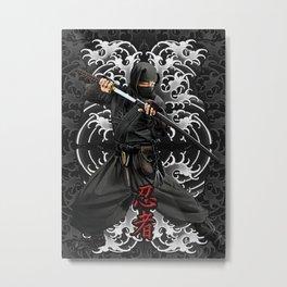 Shinobi Ninja Shadow Warrior Metal Print