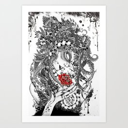 Tentacle Bride - Maahy Art Print