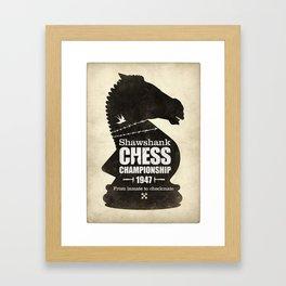 Shawshank Chess Championship Framed Art Print