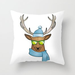 cool stag Throw Pillow