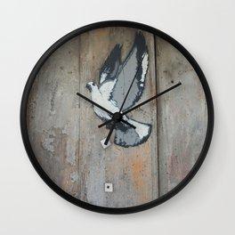 wood pigeon Wall Clock