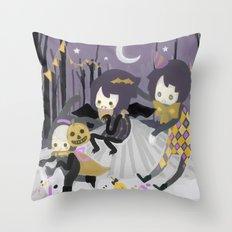 Halloween Walk Throw Pillow