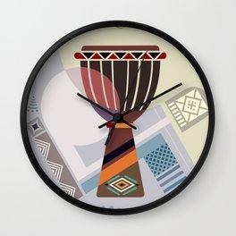 Djembe Rhythm Wall Clock