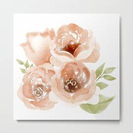 Four Orange Roses Metal Print