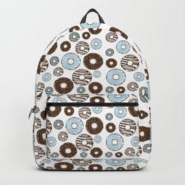 Pattern Of Donuts, Sprinkles, Icing - Blue Brown Backpack