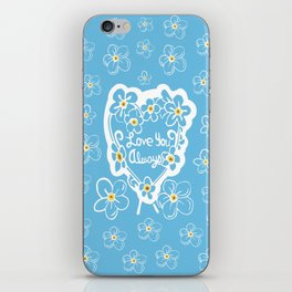 Forget-Me-Nots Love You Always iPhone Skin