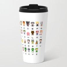 Video Games Pixel Alphabet Travel Mug