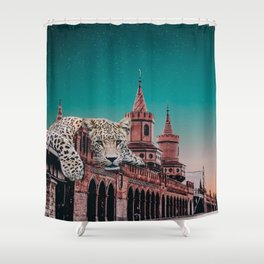 Tiger in Berlin Shower Curtain