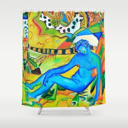 Il conforto dell'artista - the artist's comfort Shower Curtain
