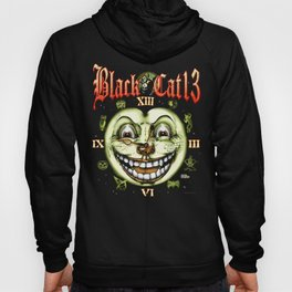 Black Cat 13 Halloween Clock Hoody