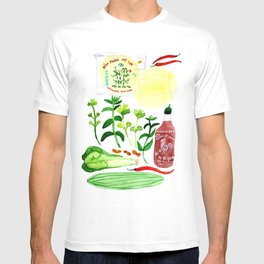 Vietnamese Rice Paper Rolls Recipe Watercolor T-shirt