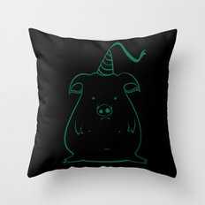 piggy 12 Throw Pillow