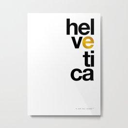 Helvetica Typoster #1 Metal Print