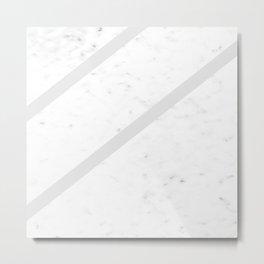 Marble Simplicity (Grey) Metal Print
