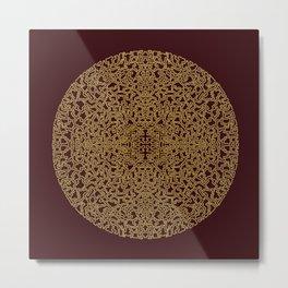 Puzzled (Moroccan Mandala) Metal Print