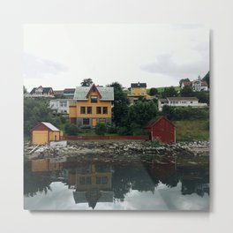 Pictoresque houses in Norway Metal Print
