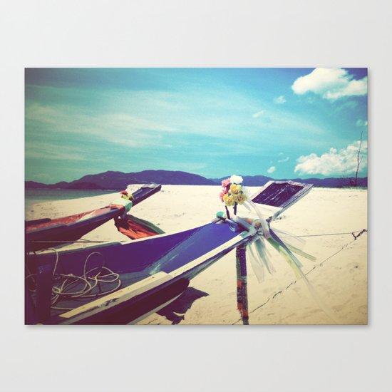 Longboat, Thailand II Canvas Print
