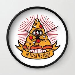 Pizza illuminati Wall Clock