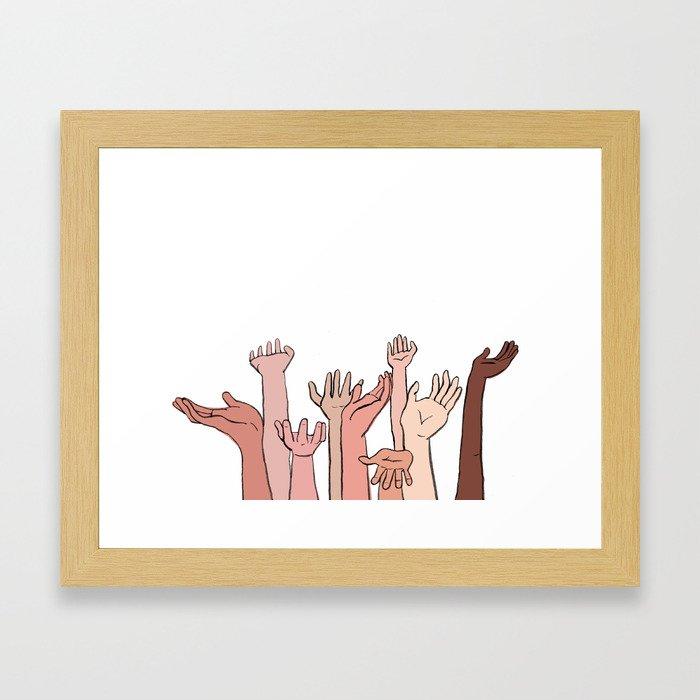Helping Hands Framed Art Print