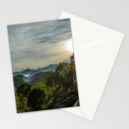 Dawn in the mountains Stationery Cards