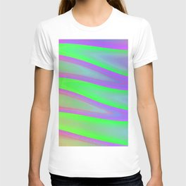 Colors swimming on grey T-shirt