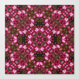 Spring blossoms kaleidoscope - Strawberry Parfait Crabapple Canvas Print