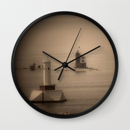 A Lighthouse & Beacon Wall Clock