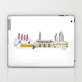Kansas City Skyline Illustration in KC Football Colors Laptop & iPad Skin