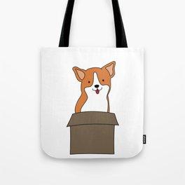 Corgi-in-a-box Tote Bag