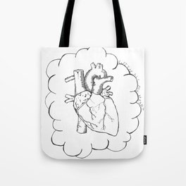 With All My Heart Tote Bag